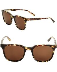 Bottega Veneta - 61mm Tortoise Shell Square Sunglasses - Lyst