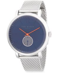 Ted Baker - Stainless Steel Chronograph Mesh Bracelet Watch - Lyst