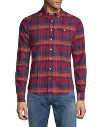 Scotch & Soda - Checkered Cotton Button-down Shirt - Lyst