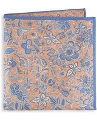 Saks Fifth Avenue - Floral Silk Pocket Square - Lyst