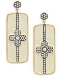 Freida Rothman - Pavé Bar Post Earrings - Lyst