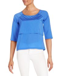 French Connection - Solid Short Raglan Sleeves Top - Lyst