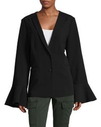 Saks Fifth Avenue Black - Ruffle Sleeve Blazer - Lyst