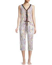 Tahari - Two-piece Printed Pyjama Set - Lyst