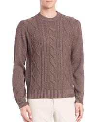Saks Fifth Avenue - Cable-knit Silk & Cashmere Jumper - Lyst