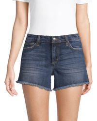 Joe's Jeans - Nancy Frayed Cuff Denim Shorts - Lyst