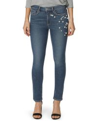 PAIGE - Exclusive Jacqueline Straight Pearl Jeans - Lyst