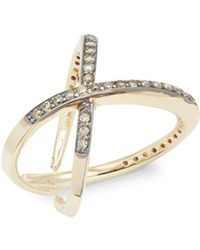 KC Designs - Champagne Diamond & 14k Yellow Gold Ring - Lyst