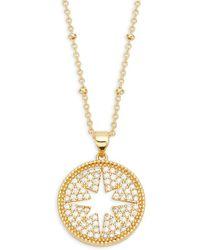 Alanna Bess - White Topaz Star Pendant Necklace - Lyst