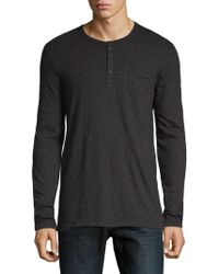 ATM - Donegal Jersey Henley Top - Lyst