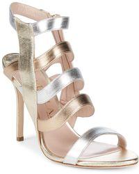 Aperlai - Open Toe Leather Sandals - Lyst