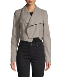 Lamarque - Cropped Leather Jacket - Lyst
