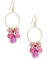Nunu - Ruby, Pink Topaz And 14k Gold Earrings - Lyst