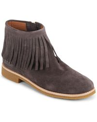 Kate Spade - Betsie Too Fringed Suede Ankle Boots - Lyst