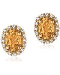 Le Vian - Diamond & 14k Yellow Gold Earrings - Lyst