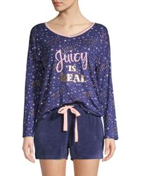 91af76dc7b7f Juicy Couture - 2-piece Graphic Pajama Set - Lyst