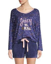 e6e082c7958 Juicy Couture - 2-piece Graphic Pajama Set - Lyst