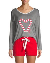 Juicy Couture - Two-piece Graphic Pajama Set - Lyst