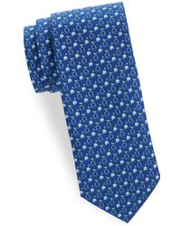 Ferragamo - Graphic Logo Silk Tie - Lyst