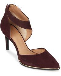 Saks Fifth Avenue - Point-toe Leather Stilettos - Lyst