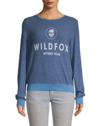 Wildfox - Printed Long-sleeve Top - Lyst
