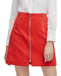 French Connection - Ellef Suedette Mini Skirt - Lyst