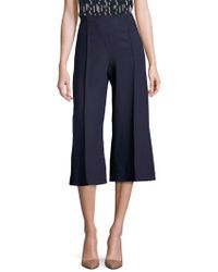Lafayette 148 New York - Luxe Italian Double Face Thompkins Culottes - Lyst