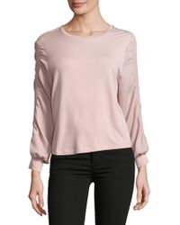 Philosophy By Republic - Gathered Sleeve Top - Lyst