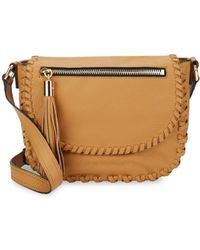 MILLY Woven Leather Crossbody Bag