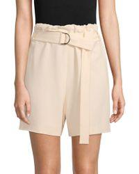 Brunello Cucinelli - Chiffon Belted Shorts - Lyst