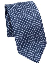 Saks Fifth Avenue - Collection Boc Check Silk Tie - Lyst
