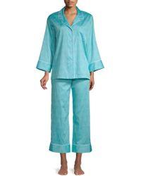 Natori - 2-piece Printed Cotton Pajama Set - Lyst