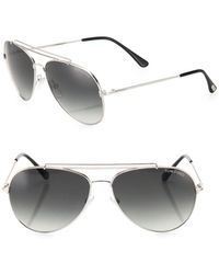 Tom Ford - Indiana 58mm Aviator Sunglasses - Lyst