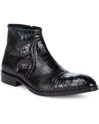Jo Ghost - Almond Toe Leather Ankle Boots - Lyst