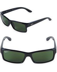 Ray-Ban - 59mm Polarized Rectangle Sunglasses - Lyst