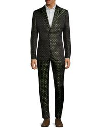 Valentino - Clover Leaf Silk Suit - Lyst