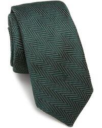 Ike Behar | Chevron Silk Tie | Lyst
