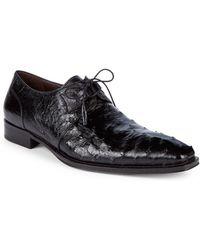 Mezlan - Ostrich Leather Derbys - Lyst