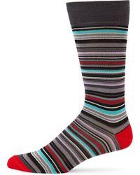 Saks Fifth Avenue - Mercerized Multi Stripe Socks - Lyst