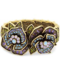 Heidi Daus - Crystal Flowering Pansy Bangle Bracelet - Lyst