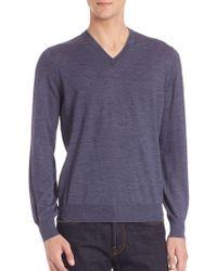 Brunello Cucinelli - Wool/cashmere V-neck Sweater - Lyst