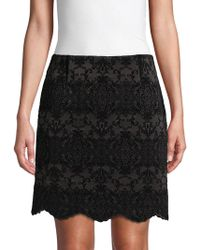 Laundry by Shelli Segal - Graphic Flocked Skirt - Lyst