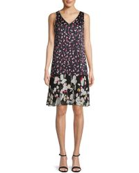 Ellen Tracy - Floral Shift Dress - Lyst