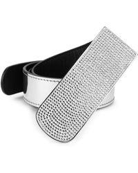 Giuseppe Zanotti - Embellished Buckle Belt - Lyst