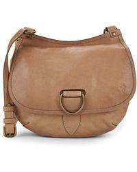 Frye - Lucy Leather Crossbody Saddle Bag - Lyst