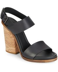 Vince - Haley Leather Sandals - Lyst