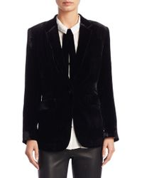 Saks Fifth Avenue - Collection Velvet Blazer - Lyst