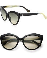 5fa1f9b5b25 Balenciaga - 56mm Acetate Cat s-eye Sunglasses - Lyst