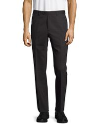 Santorelli - Virgin Wool-blend Textured Trousers - Lyst