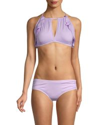 987621c5cd Carmen Marc Valvo - Classic Ruffle Bikini Top - Lyst
